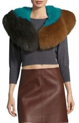 Diane von Furstenberg Dyed Fox Fur Shawl
