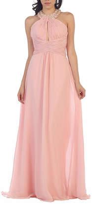 Asstd National Brand Special Occasion Long Halter Dress
