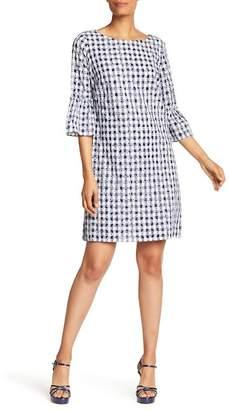 Sangria Gingham Bell Sleeve Dress