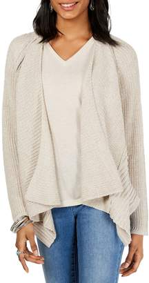 Style&Co. Style & Co. Plus Marled Draped Front Cardigan