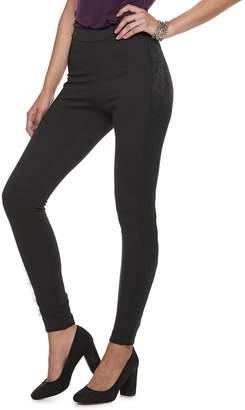 JLO by Jennifer Lopez Women's Lace-Trim Ponte Leggings