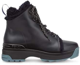 Fendi T-rex lace up ankle boots