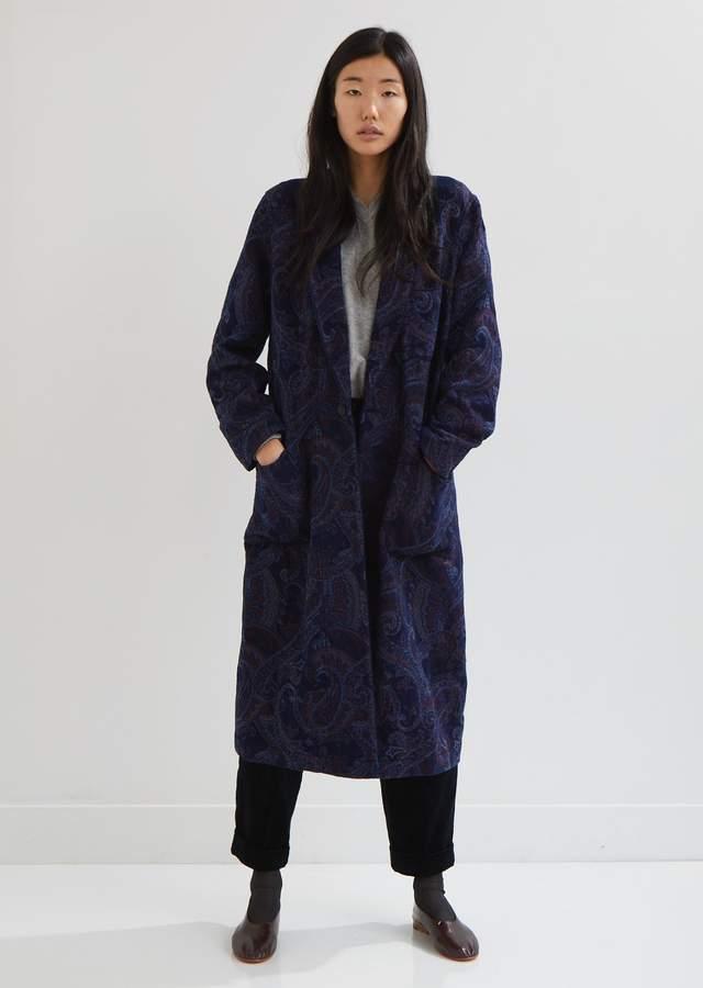 Gobelin Paisley Smoking Gown Coat