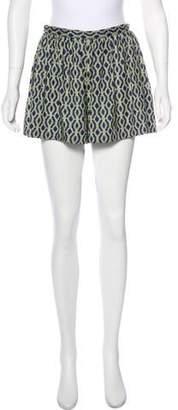 Thakoon Printed High-Rise Shorts