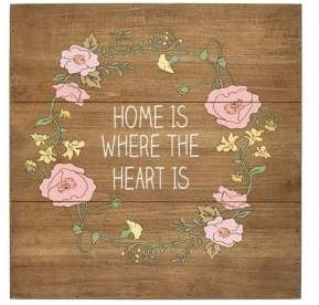 Cathy's Concepts Home is Where the Heart Is Rustic Wood Sign