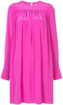 Diane von Furstenberg oversized pleated shift dress