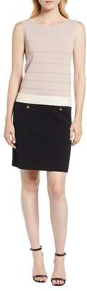 Anne Klein Colorblock Faux Pocket Sheath Dress