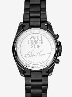 Michael Kors Watch Hunger Stop Oversized Bradshaw 100 Black-Tone Watch