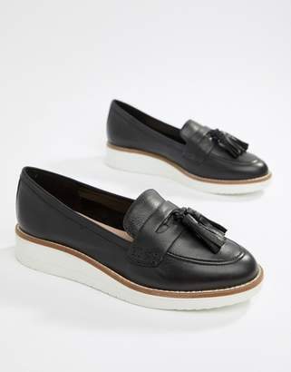 Aldo Leather Chunky Sole Tassel Loafers