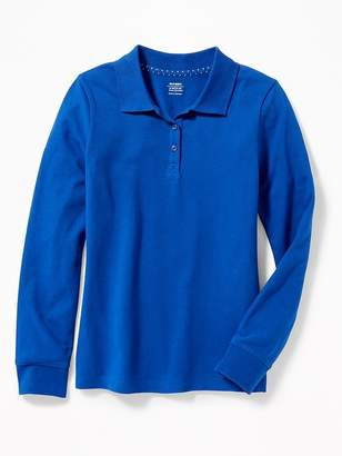 Old Navy Long-Sleeve Uniform Pique Polo for Girls