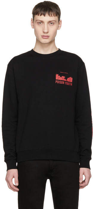 McQ Black Poison Youth Clean Sweatshirt