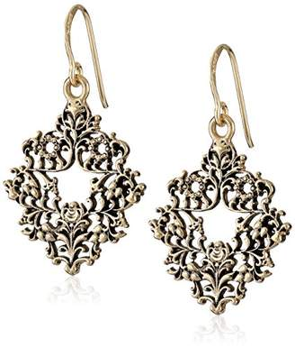 Barse Ornate Bronze Drop Earrings