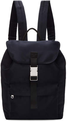 A.P.C. Navy Satin Maxence Backpack