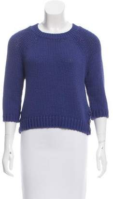 Tibi Cropped Button-Accented Sweater w/ Tags