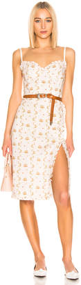 Brock Collection Floral Dress in Open White | FWRD