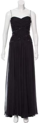 Carmen Marc Valvo Silk Evening Dress