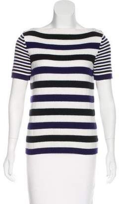 Chanel Striped Cashmere Top