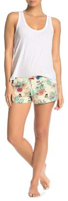 Cosabella Charlotte Lace Trim Boxer Pajama Shorts