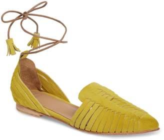Huma Blanco Hollis Huarache Ankle Tie Flat