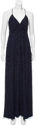 Yigal Azrouel Fringe-Tiered Evening Dress