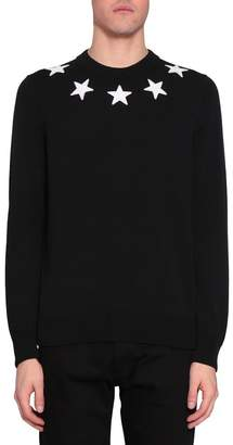 Givenchy Applique Stars Cotton Sweater