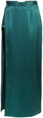 u-slit long skirt