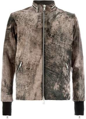 Giorgio Brato printed moto jacket