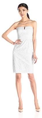 Donna Morgan Women's Quinn Short Strapless Lace Dress