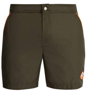 Robinson Les Bains - Oxford Long Swim Shorts - Mens - Green