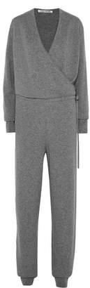 Elizabeth and James Norica Wrap-effect Cashmere Jumpsuit - Gray