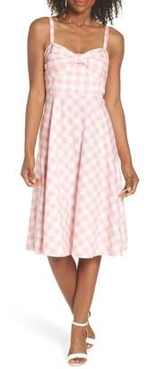 Eliza J Bow Front Cotton Sundress (Regular & Petite)