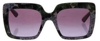 Dolce & Gabbana Floral Square Sunglasses