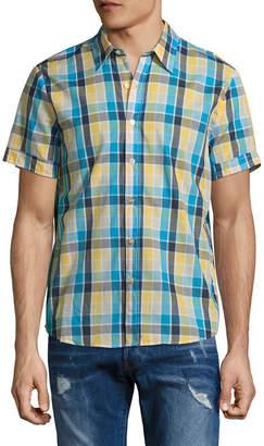 Parke & Ronen Plaid Spread Collar Sportshirt
