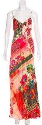 Galliano Printed Maxi Dress