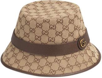 7cbd95b82dee28 Gucci Men's GG-Supreme Canvas Bucket Hat
