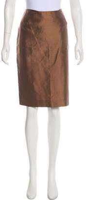 Agnona Silk Knee-Length Skirt