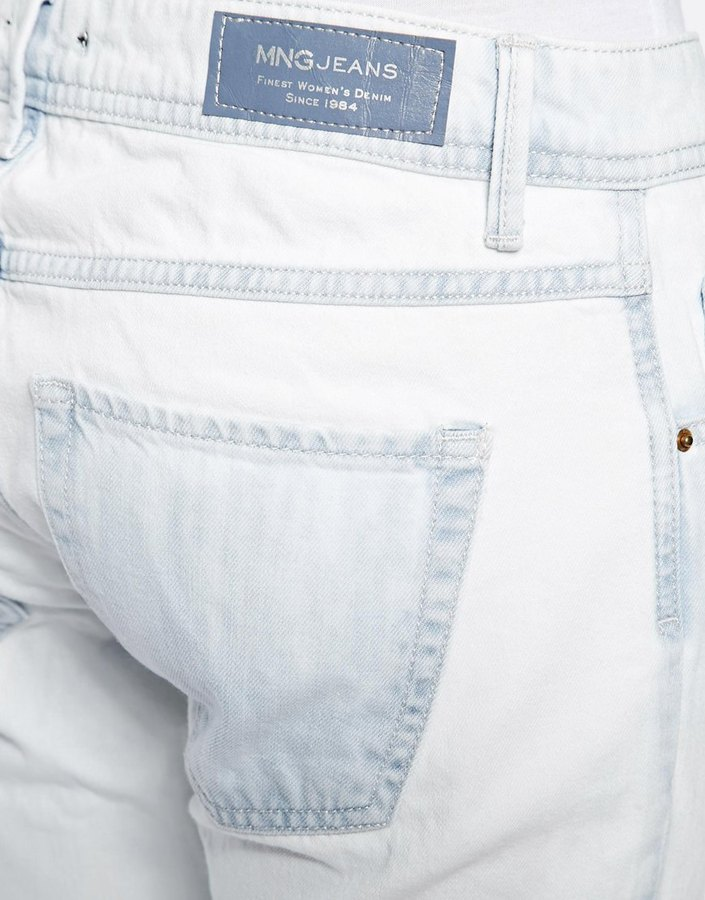 MANGO Medium Wash Boyfriend Jeans
