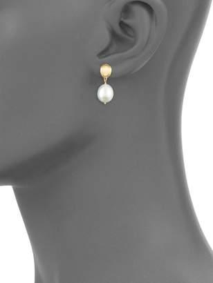 Marco Bicego 18K Yellow Gold Pearl Drop Earrings