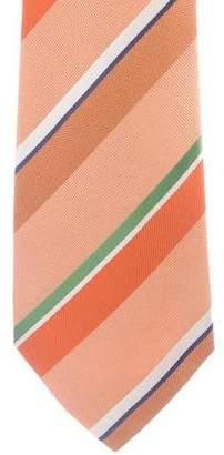 Kiton Grosgrain Striped Silk Tie