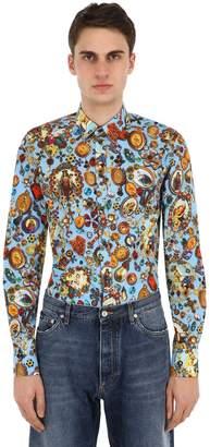 Dolce & Gabbana Allover Printed Cotton Poplin Shirt