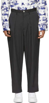Name Black Dual Fabric Trousers