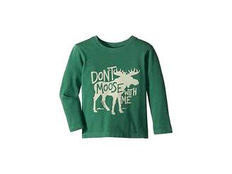 Life is Good Don't Moose with Me Crusher Long Sleeve T-Shirt (Toddler)