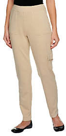 Susan Graver Weekend French Terry Slim Leg Pants with Pockets