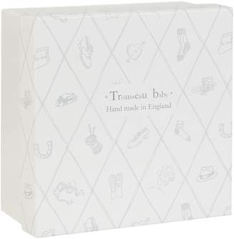 English Trousseau Silver Plated Piggy Bank (Beige)