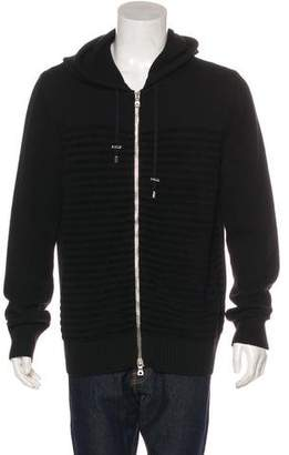 Balmain Virgin Wool Striped Sweater