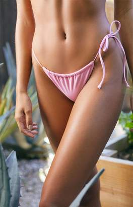 LA Hearts Pink Tulum Single Tie Bikini Bottom