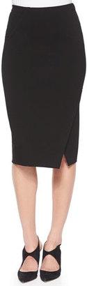Armani Collezioni Asymmetric Slit Pencil Skirt $445 thestylecure.com