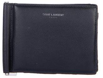 Saint Laurent Grain de Poudre Money Clip Bifold