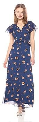 Paris Sunday Women's Ruffle Front Maxi Dress