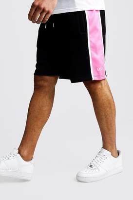 boohoo Side Panel MAN Mid Length Shorts